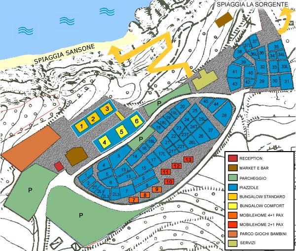 Elba Karte.Karte Camping La Sorgente